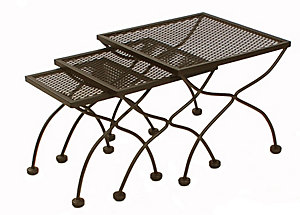 meadowcraft set of 3 nesting tables