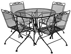Arlington House Hanson 5 Piece Dining Set - patio.christysports.com