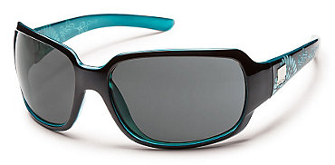 Suncloud Cookie Sunglasses Black Teal Laser - Women's