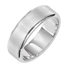 14k White Gold 7mm Comfort Fit Wedding Band
