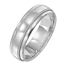 14k White Gold 6mm Comfort Fit Wedding Ring