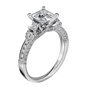 Scott Kay Tiara Collection Diamond Engagement Ring