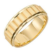 Elegant Gold Wedding Band by Lieberfarb