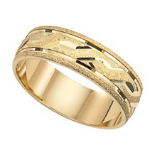 Stunning 14 Karat Gold Lieberfarb Wedding Band