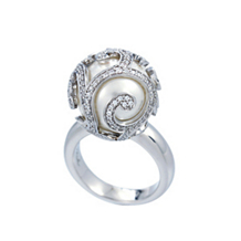 Belle Etoile Beauty Bound White Pearl Ring