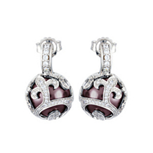 Belle Etoile Beauty Bound Maroon Pearl Earrings