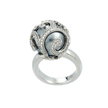 Belle Etoile Beauty Bound Grey Pearl Ring