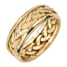 Lieberfarb Fancy Gold Wedding Band