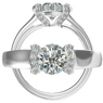 Harout R Half Bezel Diamond Engagement Ring