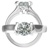 Harout R Half Bezel Set Diamond Engagement Ring