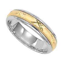 Two-Tone Gold Lieberfarb Wedding Band
