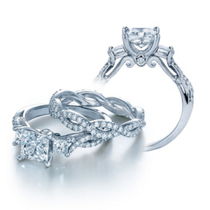 Verragio Insignia Princess Cut Diamond Engagement Ring