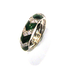 Hidalgo Green Enamel band