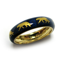 Hidalgo Blue Enamel Lion Band
