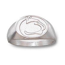 Sterling Silver Penn State Gents Ring
