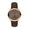 Burberry Men's Swiss Brown Leather Strap Watch BU2354