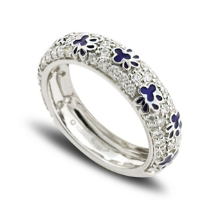 Hidalgo Diamond Paw Print Band