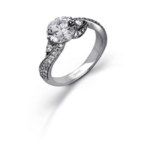Simon G Fashionable Diamond Engagement Ring