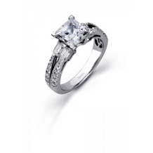 Simon G Princess Center Engagement Ring