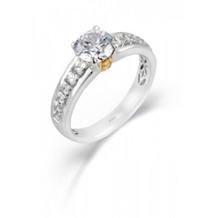 18K Two Tone Engagement Ring by Simon G