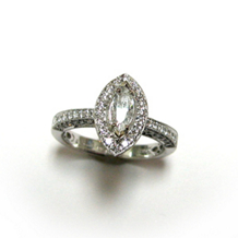 Classic Marquise Diamond Ring by Simon G