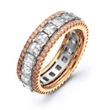 Asscher Cut Diamond Eternity Band By Simon G