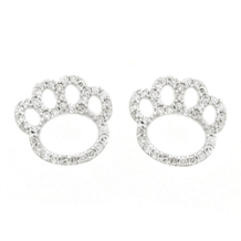 Penn State Diamond Paw Print Earrings
