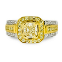 Princess Cut Yellow Diamond Ring