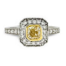 Yellow Princess Cut Diamond Ring