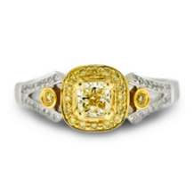 Two Tone Yellow Diamond Ring