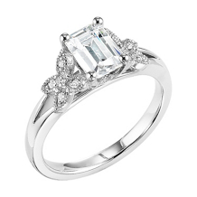 ArtCarved Emerald Cut Diamond Engagement Ring