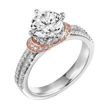 ArtCarved Rose Gold Accented Engagement Ring