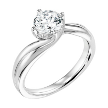 ArtCarved Twisted Solitaire Engagement Ring