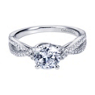 Diamond Engagement ring Criss Cross Pattern