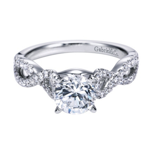 Contemporary Criss Cross Engagement Ring