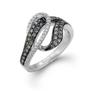 Simon G Brown and White Diamond Fashion Ring