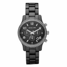 Micahel Kors Black Ceramic Glitz Watch MK5470