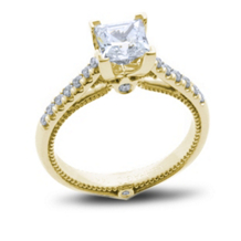 "Verragio ""Love Is"" Kranich's Exclusive Princess Cut Ring"