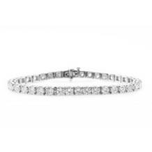 10 Carat Diamond Bracelet in White Gold