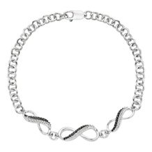 Black and White Diamond Infinity Bracelet