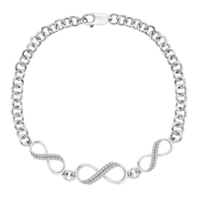 Diamond Triple Infinity Bracelet