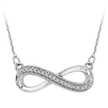 Diamond Infinity Pendant in White Gold