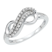 Diamond Infinity Symbol Ring
