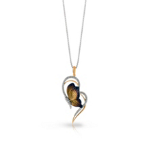 Simon G Diamond Butterfly Organic Allure Pendant