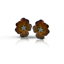 Simon G Organic Allure Flower Earrings