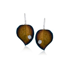 Simon G Organic Allure Leaf Dangle Earrings