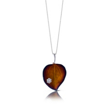 Simon G Leaf Pendant Organic Allure Collection