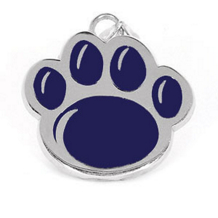 Penn State Lion Paw Pendant With Blue Enamel