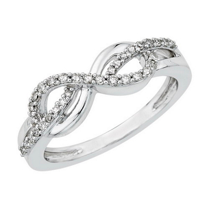 White Gold and Diamond Infinity Ring
