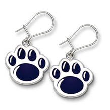 Penn State Lion Paw Earrings With Blue Enamel